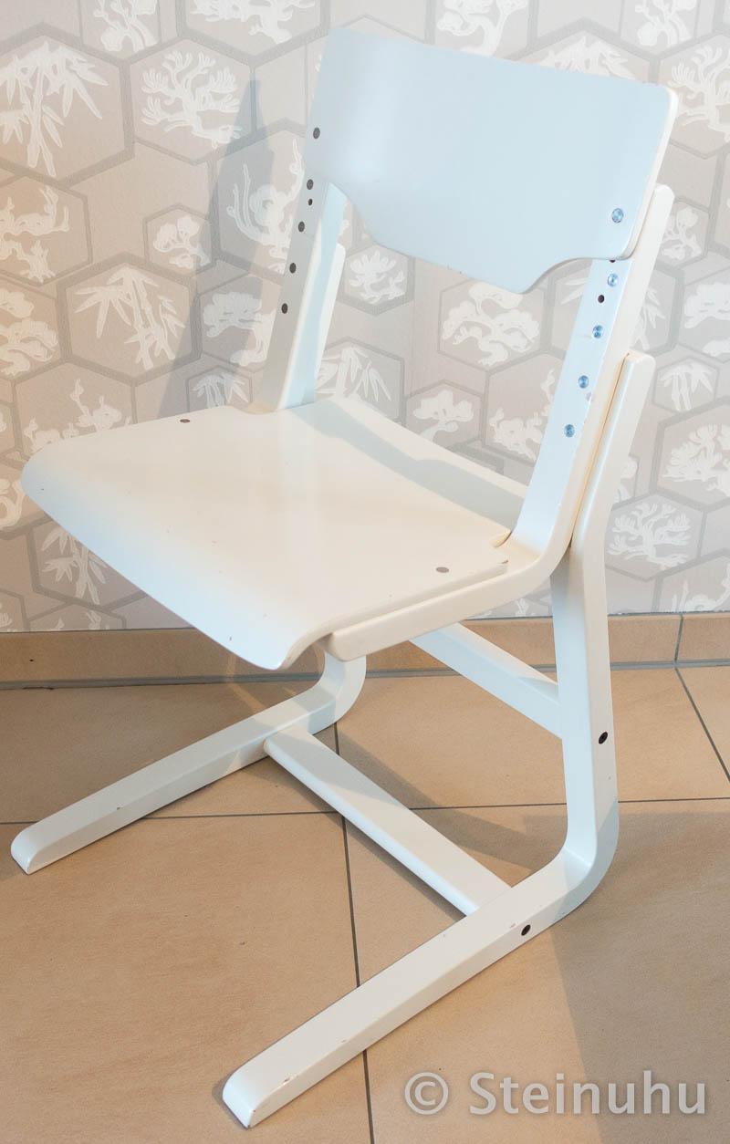h lsta schreibtischstuhl kinder jugendliche h henerstellbar holz weiss ebay. Black Bedroom Furniture Sets. Home Design Ideas
